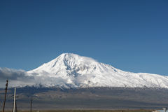Ararat mountain. In Turkey, view from Armenia Stock Photography