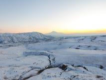 Ararat mountain in the winter sunset,Armenia. The Ararat mountain in the winter sunset,Armenia royalty free stock photo