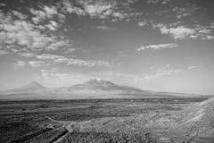 Ararat view. Mt. Ararat and Little Ararat as viewed from Khor Virap, Armenia Stock Photo