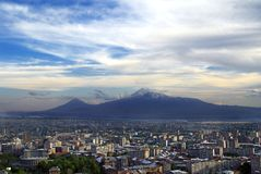 Ararat from Yerevan. Ararat mountain view from Armenia Stock Photo