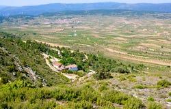 Aras de Los Olmos κοιλάδα στη Βαλέντσια Ισπανία Στοκ Εικόνα