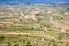 Aras de Los Olmos κοιλάδα στη Βαλέντσια Ισπανία Στοκ Φωτογραφία