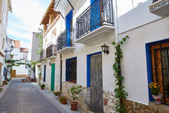 Aras de los Olmos village street  in Valencia. Spain Stock Photography