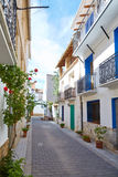 Aras de los Olmos village street  in Valencia. Spain Royalty Free Stock Photography