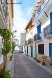 Aras de los Olmos village street  in Valencia Royalty Free Stock Photography