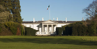 Aras an uachtarain. The residence of the President of Ireland in Dublin's Phoenix Park Royalty Free Stock Image