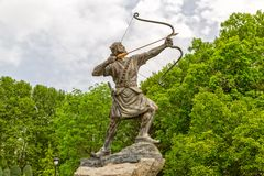 Arash the Archer Statue Stock Images