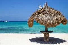 Arashi海滩-阿鲁巴 免版税库存图片