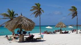 Arashi Beach in Aruba Stock Photos