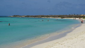 Arashi Beach in Aruba Royalty Free Stock Photography
