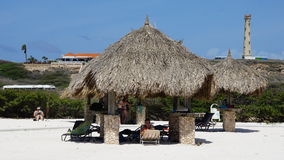 Arashi Beach in Aruba. In the Caribbean Royalty Free Stock Photo
