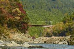 Arashiyama看法在秋天期间的京都 免版税库存图片