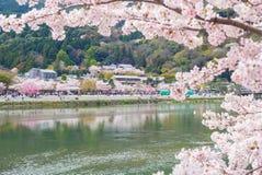 arashiyama风景在京都 免版税库存图片