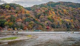 Arashiyama στην εποχή φθινοπώρου Στοκ εικόνες με δικαίωμα ελεύθερης χρήσης