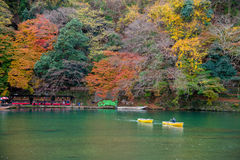Arashiyama στην όμορφη εποχή φθινοπώρου Στοκ φωτογραφίες με δικαίωμα ελεύθερης χρήσης