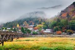 Arashiyama το φθινόπωρο, Κιότο, Ιαπωνία Στοκ Εικόνα
