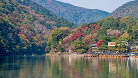 Arashiyama in autumn season Royalty Free Stock Photo