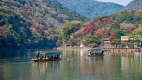 Arashiyama in autumn season Royalty Free Stock Photos