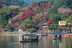 Arashiyama in autumn season Stock Photo