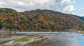 Arashiyama in autumn season. Stock Photo