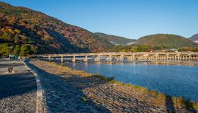 Arashiyama in beautiful autumn season colours. Arashiyama in beautiful autumn season colours, Kyoto, Japan Royalty Free Stock Photography