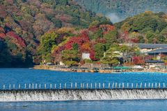 Arashiyama in beautiful autumn season colours. Arashiyama in beautiful autumn season colours, Kyoto, Japan Royalty Free Stock Photography