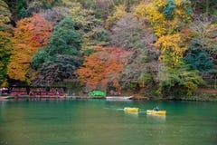 Arashiyama in beautiful autumn season. Arashiyama in beautiful autumn season, Kyoto, Japan Royalty Free Stock Photos