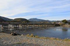 Arashiyama Bridge in Kyoto , Japan. The Arashiyama Bridge in Kyoto , Japan Stock Photography