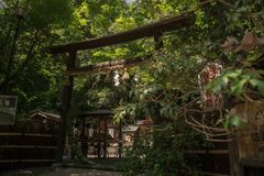 Arashiyama da porta do templo de Japão imagens de stock royalty free
