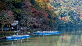 Arashiyama en la estación del otoño Imagen de archivo libre de regalías