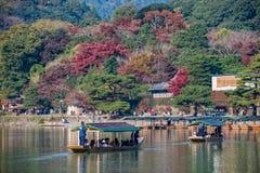 Arashiyama en la estación del otoño Foto de archivo