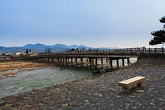 Arashiyama, Kyoto, Japan. Arashiyama famous bridge, Kyoto, Japan Stock Photo