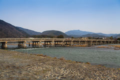 Arashiyama, Kyoto, Japan. Arashiyama famous bridge, Kyoto, Japan Stock Photography