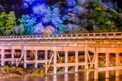 Arashiyama Kyoto Bridge Stock Photo