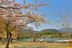 Arashiyama in spring. At japan Royalty Free Stock Images