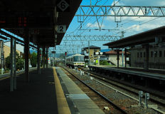Arashiyama station. Cloud day at Arashiyama station,Kyoto, Japan Stock Photos