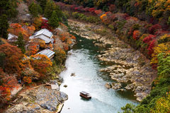 Arashiyama view pointat autumn Stock Images