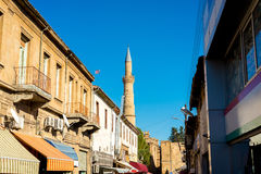 Arasta street, a touristic street leading to Selimiye mosque Royalty Free Stock Image