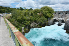 Aratiatia Rapids Dam near Taupo - New Zealand Stock Images