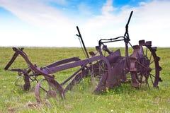 Aratro d'agricoltura antico Fotografia Stock