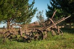 Aratro d'agricoltura d'annata Fotografia Stock Libera da Diritti