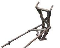 Aratro di legno antico Fotografia Stock Libera da Diritti