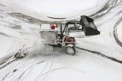 Aratro di neve Fotografie Stock