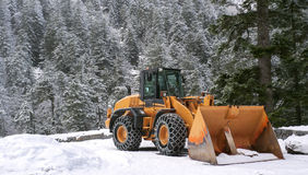 Aratro di neve Fotografia Stock