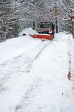Aratro di neve Fotografie Stock Libere da Diritti