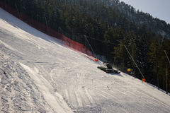 Aratro di neve Immagini Stock