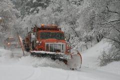 Aratro di neve Immagini Stock Libere da Diritti
