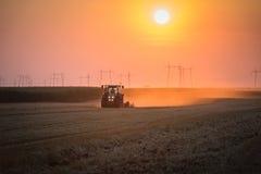 Aratura del trattore Fotografia Stock