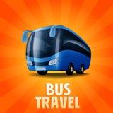 Araund światowy autobus Ilustracji