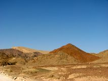 Arava desert. The Arava desert, different colored sand and stones. Eilat mountains.Israel Stock Images
